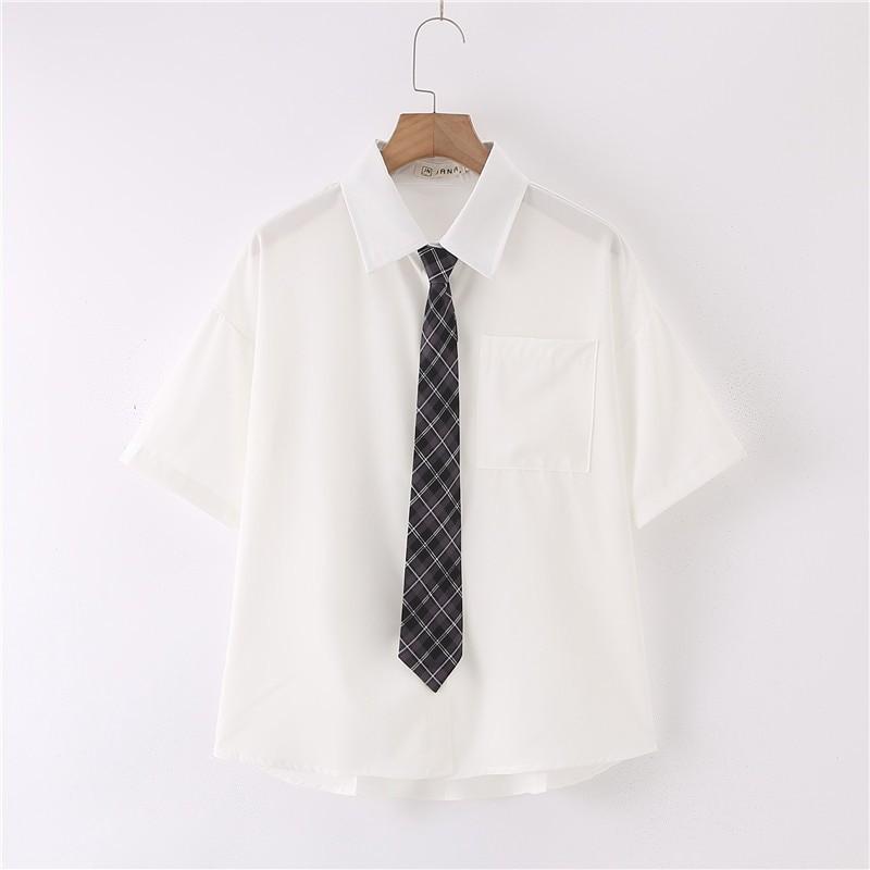 Black Plaid Tie
